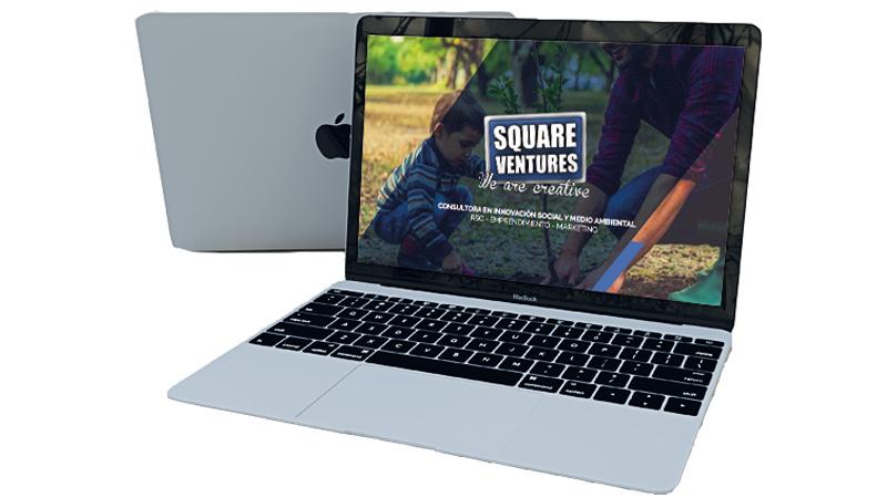 mockup de la web square ventures
